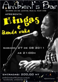 Poster: Mingas at Ambient's Bar in Maputo, Bairro 25 de Junho.