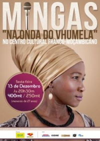 Poster: 'Vhumela' concert at Centro Cultural Franco-Moçambicano, Maputo, December 13, 2013