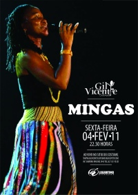 Poster: Mingas at Bar Gil Vicente, Maputo on Feb 4, 2011