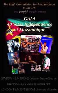 London and Liverpool, UK, July 4-8, 2015;  Celebrating 40 years of Mozambican Independence