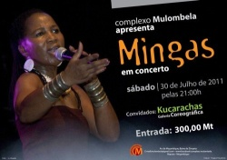 Poster: Mingas concert at 'Complexo Mulombela', Bairro de Zimpeto, July 30, 2011