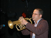 Neil on trumpet, performing with Mingas November 2007 (Photo: by Naita Ussene)