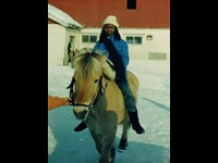 With Orchestra Marrabenta in Norway, March 1988 ....and on a horse!